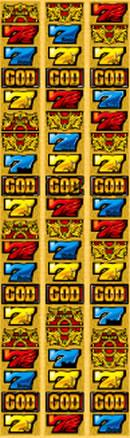 ミリオンゴッド 神々の凱旋のリール配列